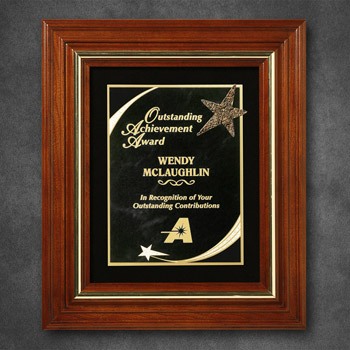 "Americana Plaque with Velour 14-3/4"" x 11-3/4"""
