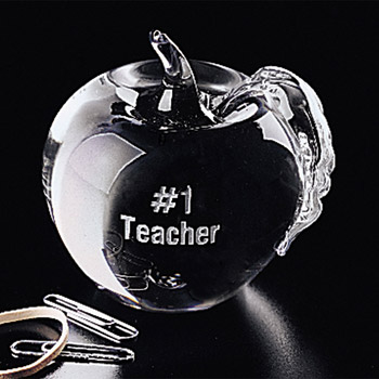 Apple Paperweight 3-1/4""