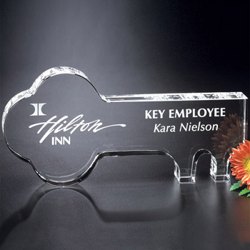 "Crystal Key 6"" W"